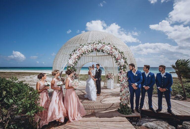 Hotel Sandos Playacar Beach - svadobný obrad