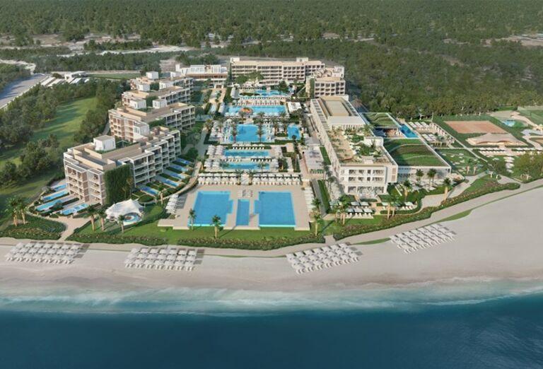Hotel Ikos Andalusia - Pohľad z výšky na more a ostrov