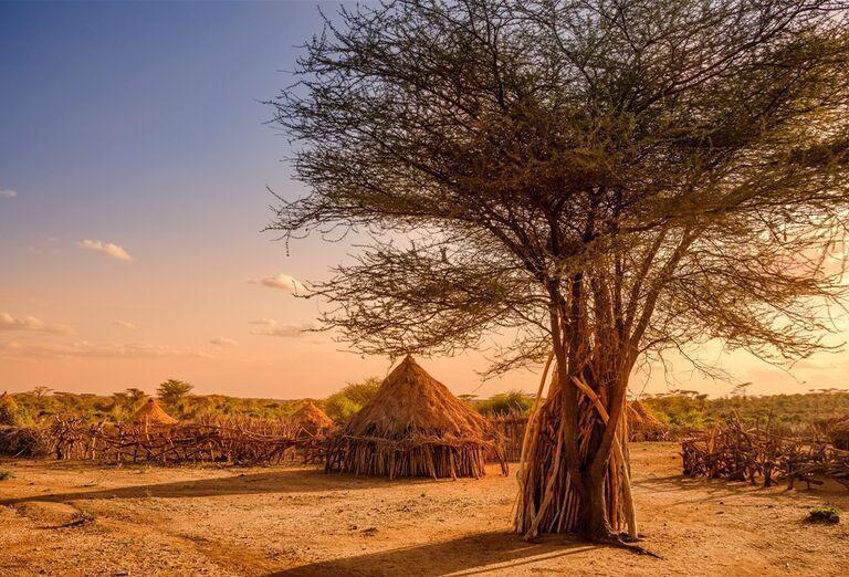 Etiópia - Historická cesta a nádherné pohorie Simien, slamené domčeky