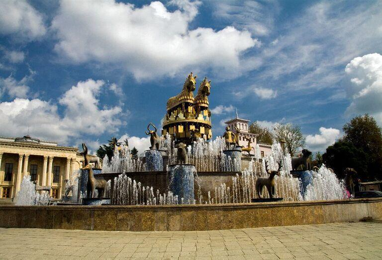 Gruzínsko a jeho prírodné krásy - fontána