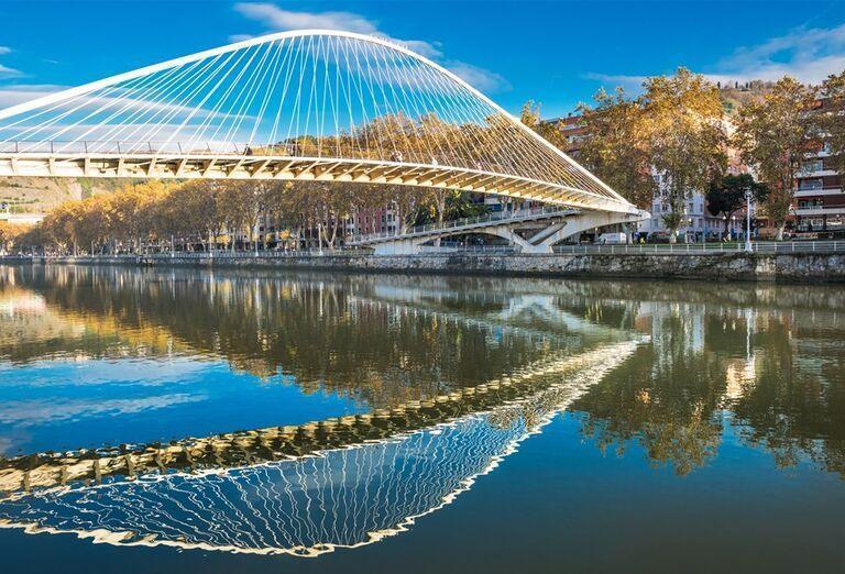Most Zubizuri, Bilbao, poznávací zájazd, Španielsko