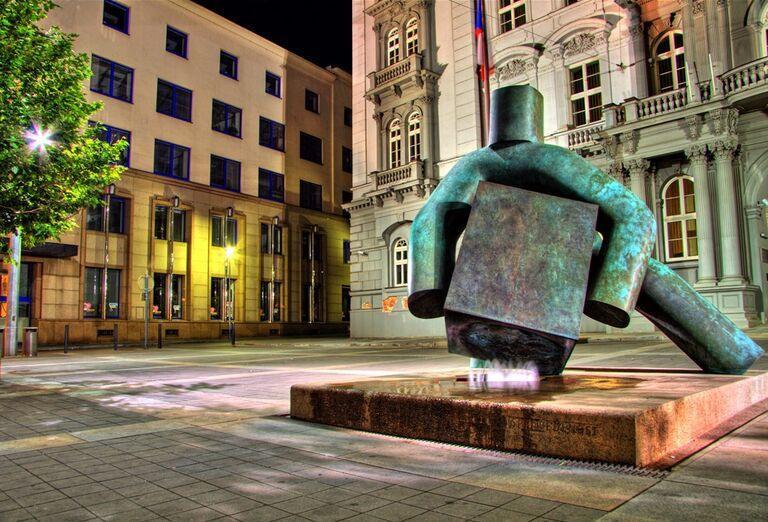 Brno a Vida park - socha