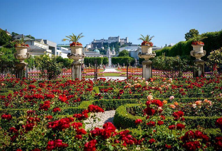 Salzburg - záhrada kvetov
