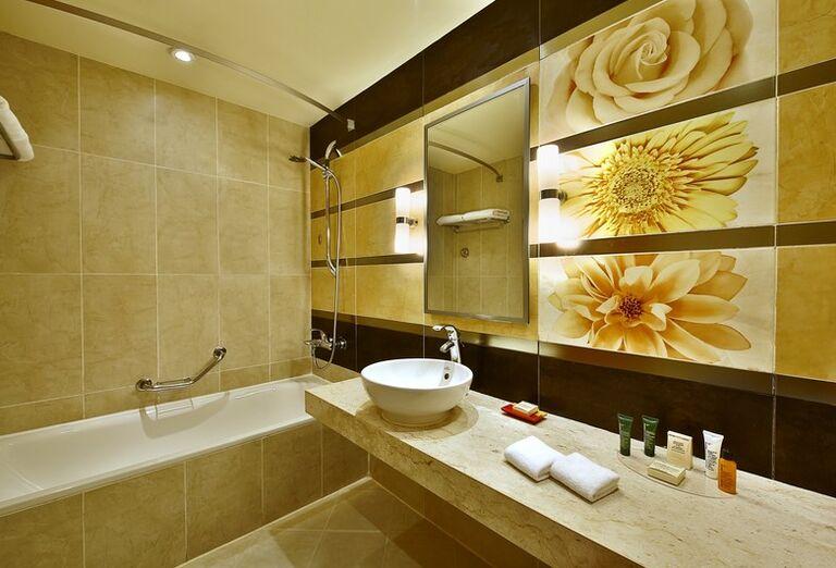 Kúpeľňa v hoteli Hilton Hurghada Long Beach Resort