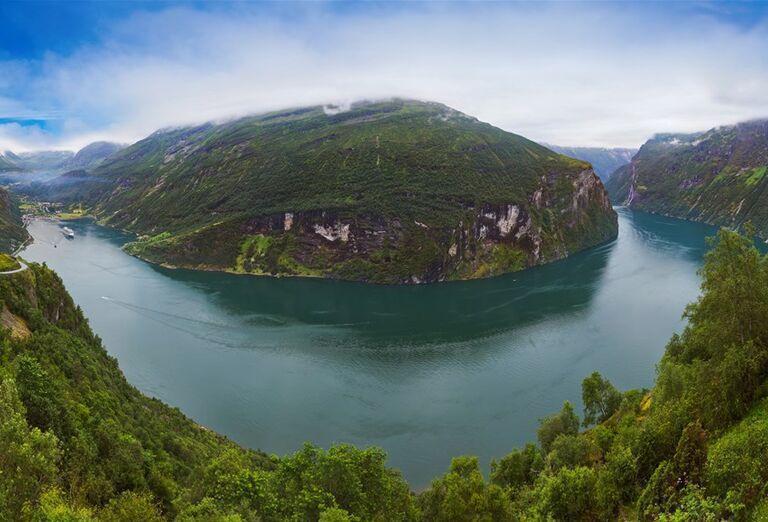 Veľký okruh Nórskom -