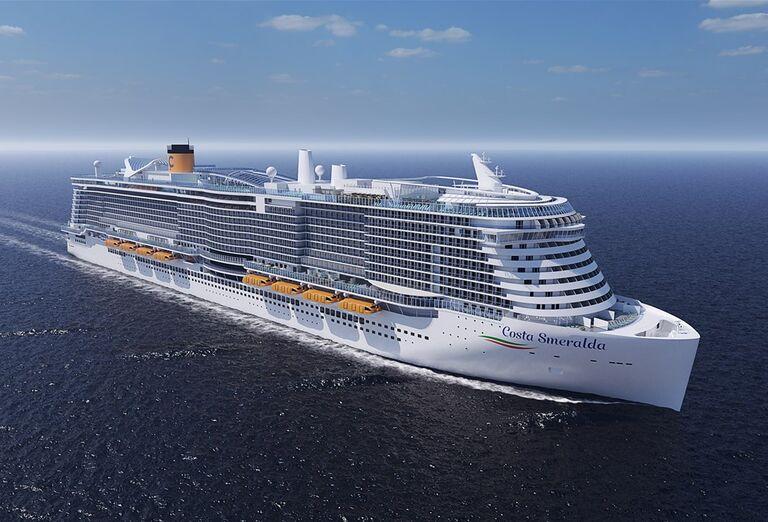 Výletná Loď Costa Smeralda - pohľad na loď