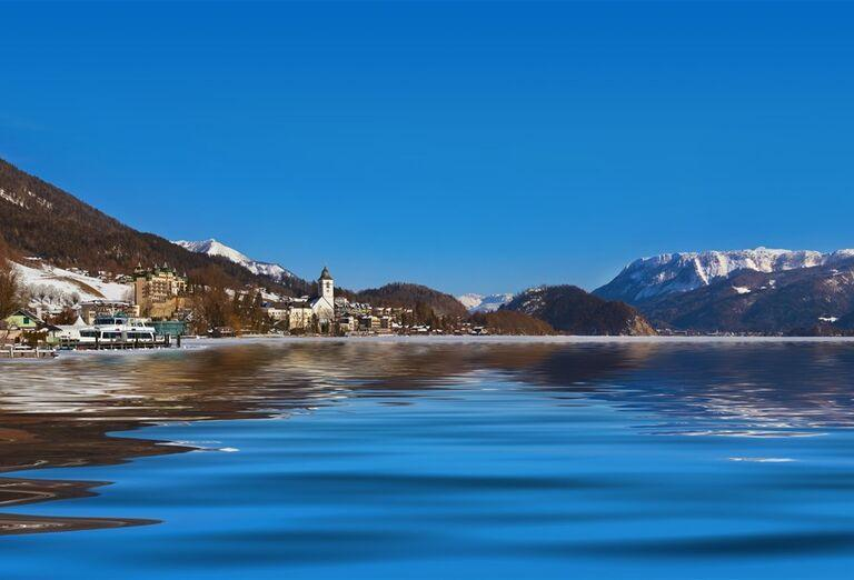 Salzburg a čerti - jazero