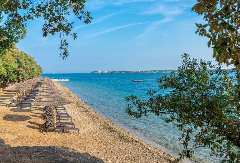 Pláž v rezorte Valamar Club Tamaris