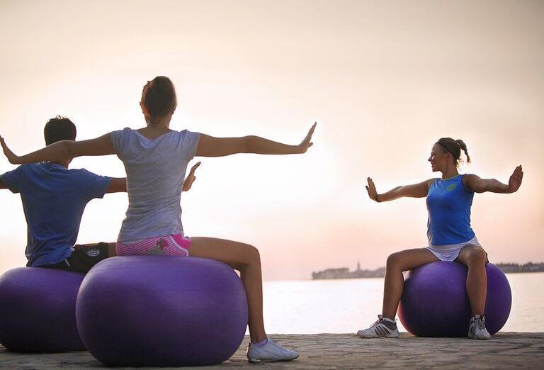 Cvičenie v rezorte Valamar Club Tamaris