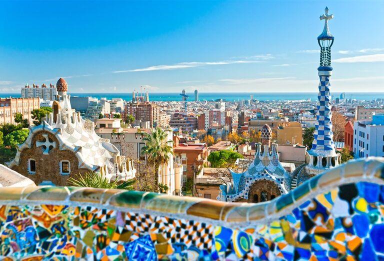 Barcelona s pobytom pri mori - výhľad na mesto