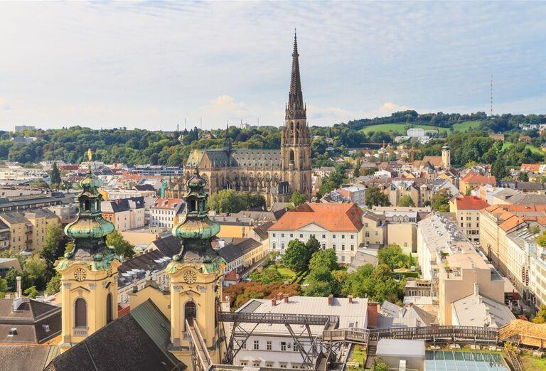 Víkend v Linzi a okolí - pohľad na mesto