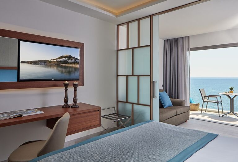 Izba s krásnym výhľadom na more v hoteli Amada Colossos Resort