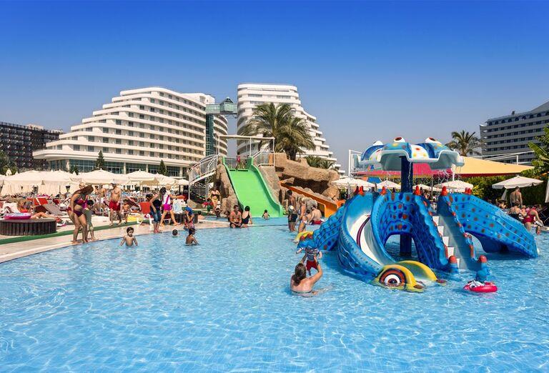 Detský bazén so šmykľavkou v hoteli Miracle Resort