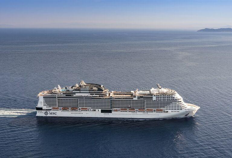 Výletná Loď MSC Meraviglia - loď na mori