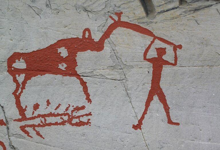 Nórsko za polárny kruh - kresby na stene
