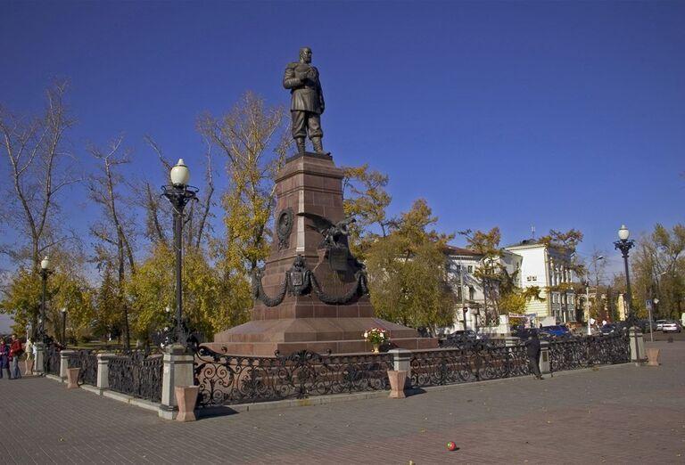 Irkutsk a Bajkalské jazero - socha