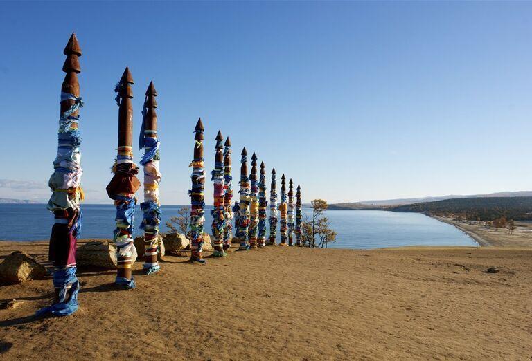 Irkutsk a Bajkalské jazero - stĺpy