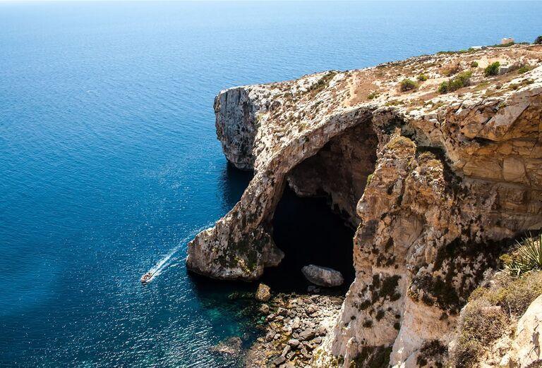 Malta a Gozo- pohľad na útes