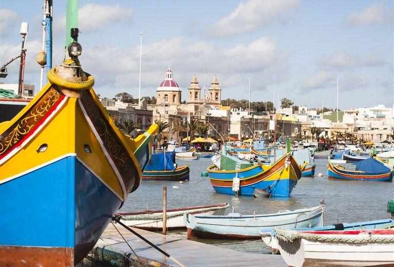 Malta a Gozo- pohľad na prístav