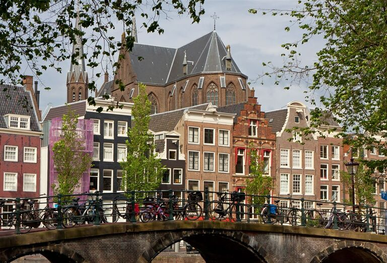 Pestré domčeky v Amsterdame