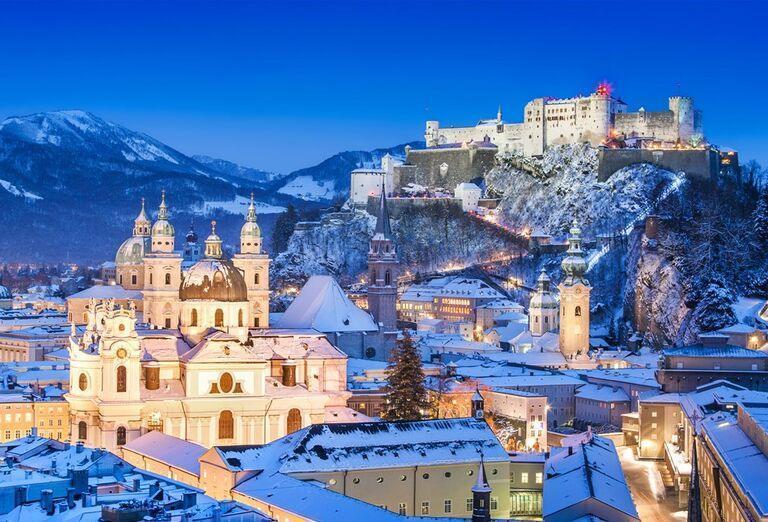 Salzburg - Advent na jazere Traunsee