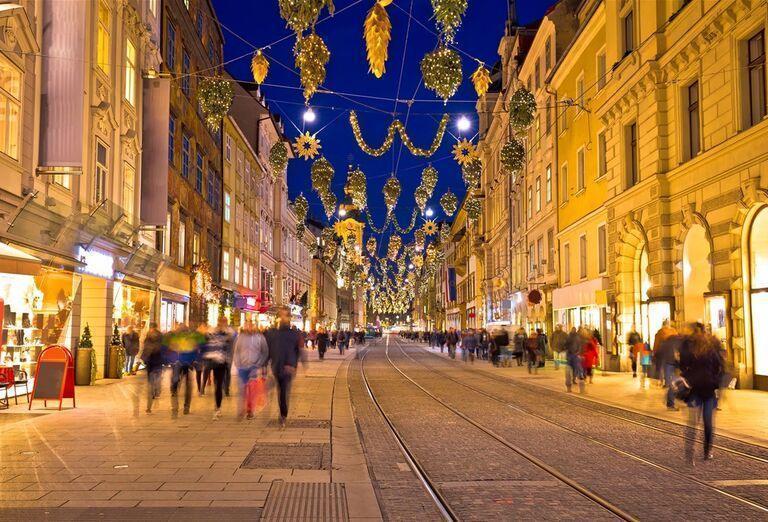 Graz - zimná rozprávka-mesto