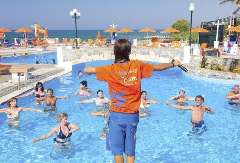 Animácie v bazéne hotela Eden Village Kournas