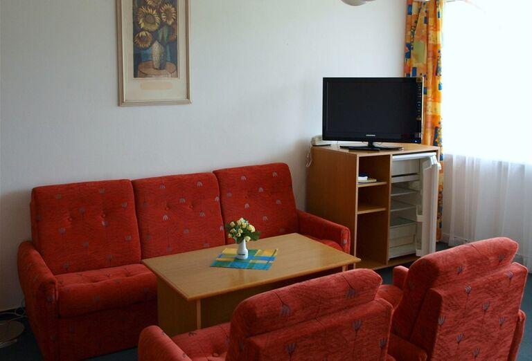 Obývacia časť v hoteli Sorea Urán