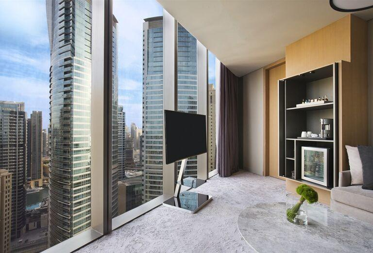 Izba s výhľadom na okolie v hoteli Rixos Premium Dubai