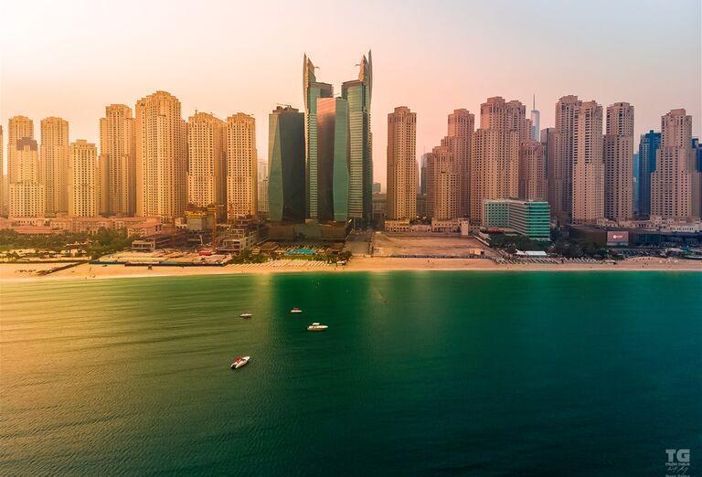 Pláž pred hotelom Rixos Premium Dubai