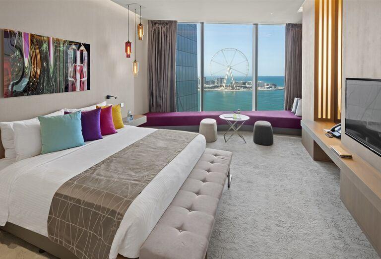 Komfortná izba s výhľadom na more v hoteli Rixos Premium Dubai