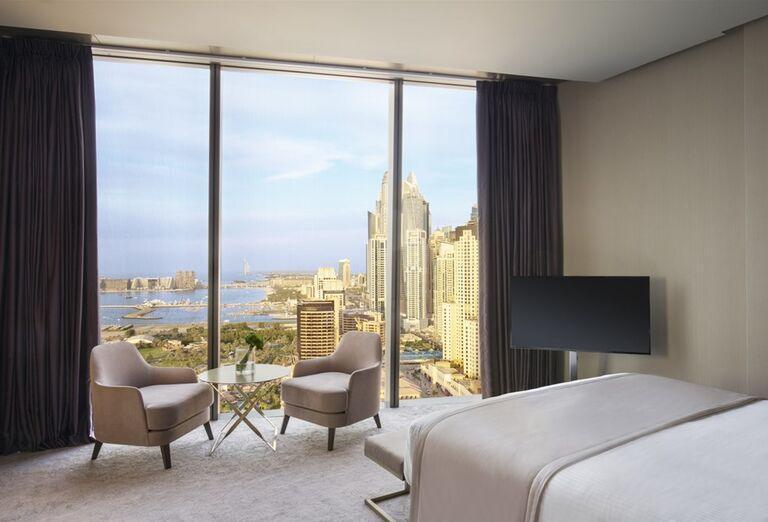 Výhľad z hotelovej izby Rixos Premium Dubai