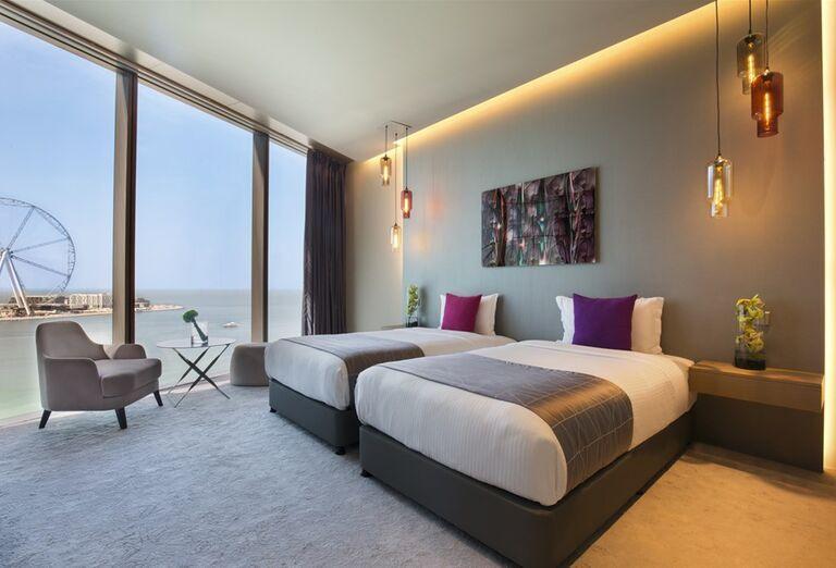 Ubytovanie s výhľadom na more v hoteli Rixos Premium Dubai