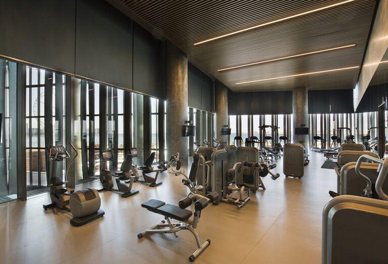 Fitnes v hoteli Rixos Premium Dubai