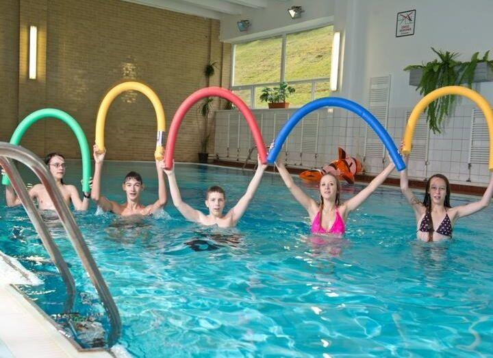 Cvičenie v bazéne hotela Sorea Ľubovňa