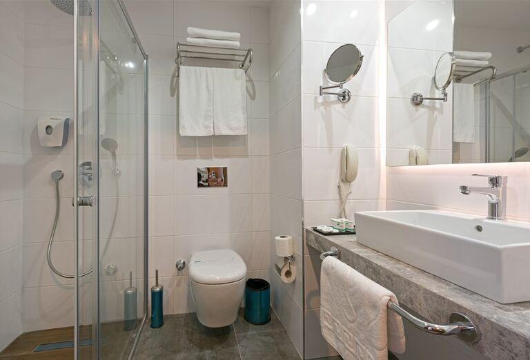 Kúpeľňa v hoteli Floria Beach