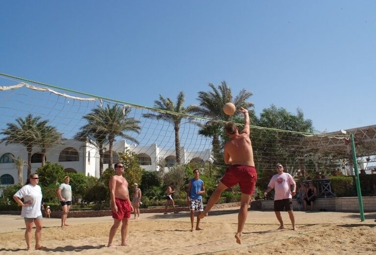 Plážový volejbal v hoteli Arabia Azur