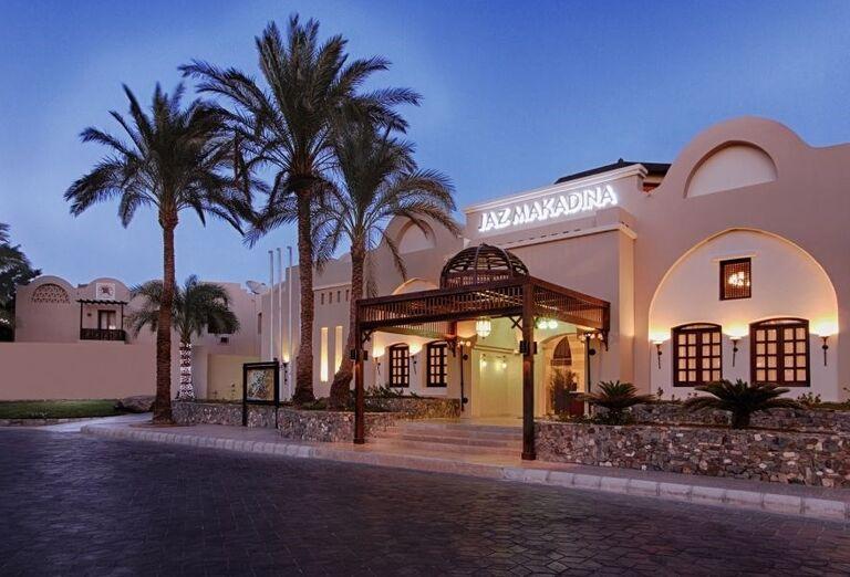 vstup do hotela, Jaz Makadina, Egypt