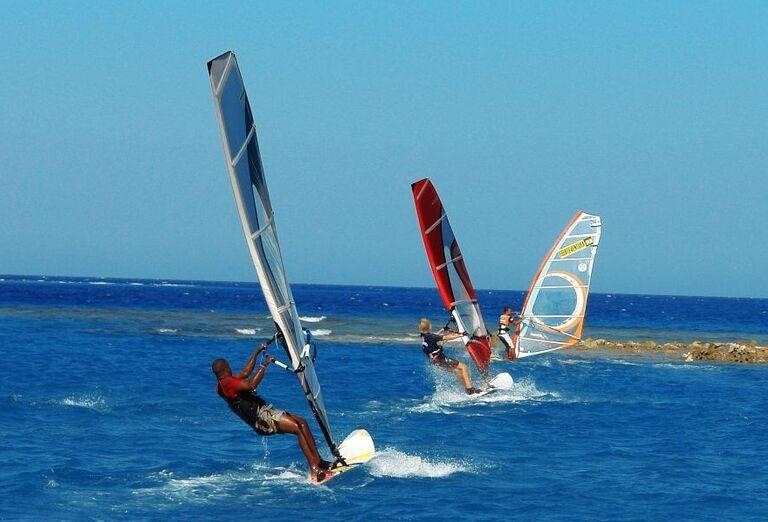 vodne sporty,  Jaz Makadina, Egypt
