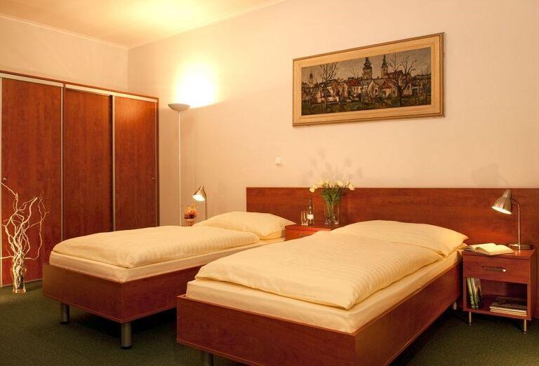 Dvojlôžková izba v kúpeľnom hoteli Palace