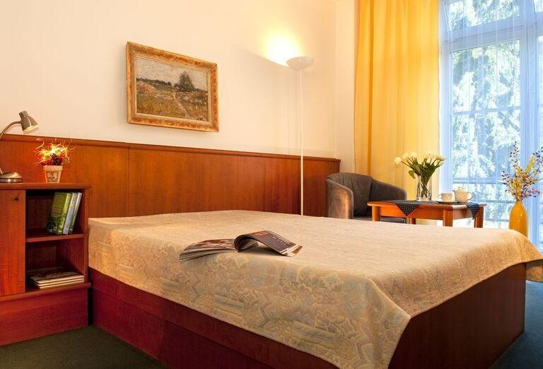 Komfortná izba v kúpeľnom hoteli Palace