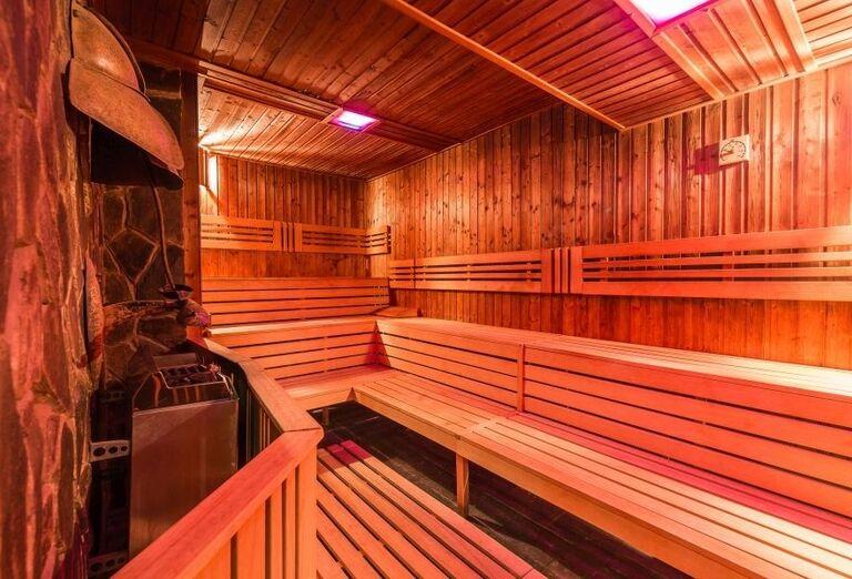 Sauna vo wellness hoteli Borovica