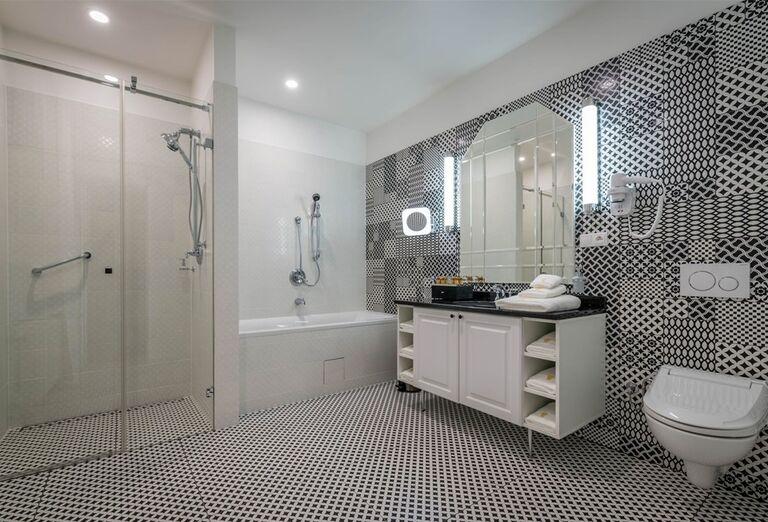 Kúpeľňa v hoteli Royal Palace