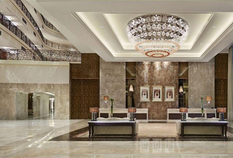 Interiér hotela Waldorf Astoria Dubai Palm Jumeirah