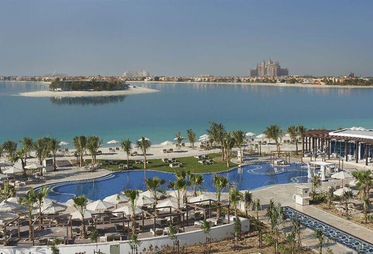 Pohľad na areál hotela Waldorf Astoria Dubai Palm Jumeirah