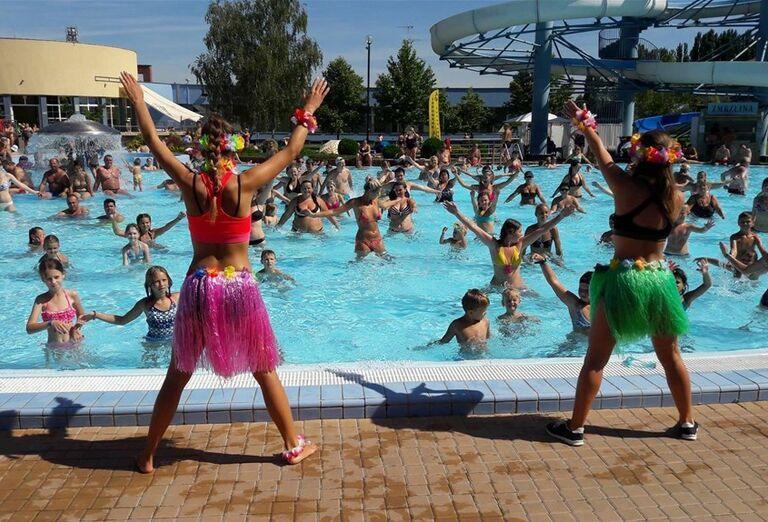 Animácie v bazéne v hoteli Thermalpark