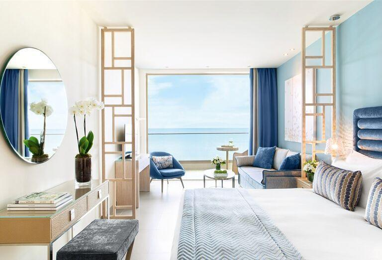 Izba s výhľadom na more v hoteli Ikos Oceania