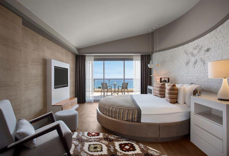 Izba s výhľadom na more v hoteli Barut Acanthus & Cennet