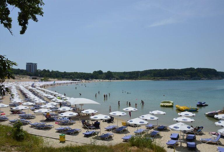 Pláž pri hoteli Lotos, Kiten, Bulharsko