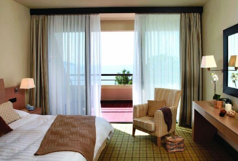 dvojlôžková superior izba v hoteli Sithonia, Chalkidiki, Grécko
